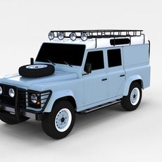 Land Rover Defender 110 Utility Station Wagon rev 3D Model