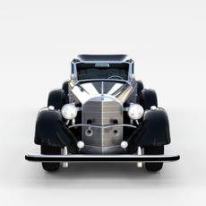 Mercedes 770K Staff Car rev 3D Model