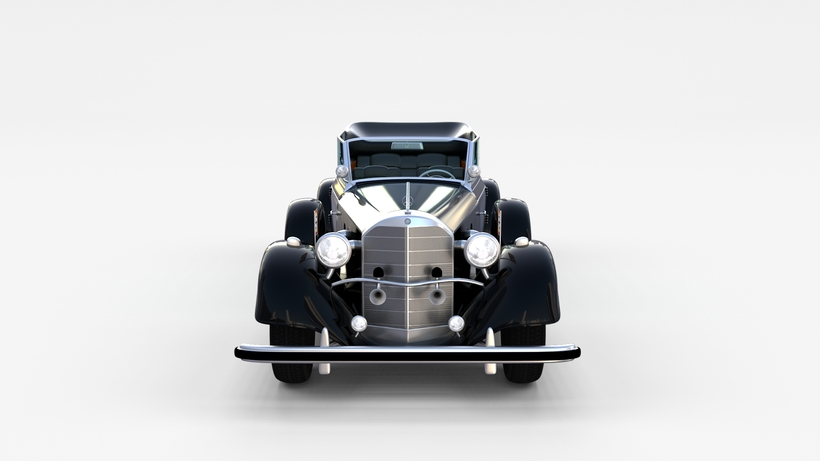 Mercedes 770k Grosser Nazi Staff Car rev 3D Model