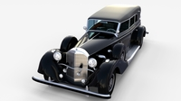 Mercedes 770k Grosser Staff Car rev 3D Model