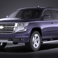 Chevrolet Tahoe Z71 2015 VRAY 3D Model