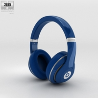 Beats by Dr. Dre Studio Wireless Over-Ear Blue 3D Model