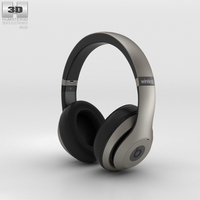 Beats by Dr. Dre Studio Wireless Over-Ear Titanium 3D Model