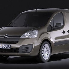 Citroen Berlingo 2015 VRAY 3D Model