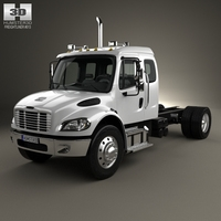 Freightliner M2 Extended Cab Chassis Truck 2014 3D Model