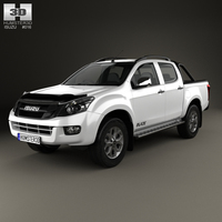 Isuzu D-Max Double Cab Blade 2014 3D Model