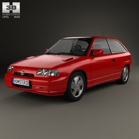 Opel Astra (F) 3-door GSi 1991 3D Model