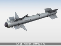 AA-11 Archer Vympel R-73 3D Model