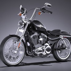 Harley Davidson Seventy Two  2016 3D Model