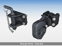 Trailer hitch - Tow eye 3D Model