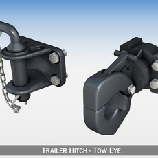 Trailer hitch - Tow eye 3D Model
