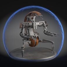 Star Wars Droideka Destroyer Droid 3D Model