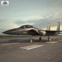 McDonnell Douglas F-15E Strike Eagle 3D Model