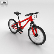 Bicycle Red 3D Model
