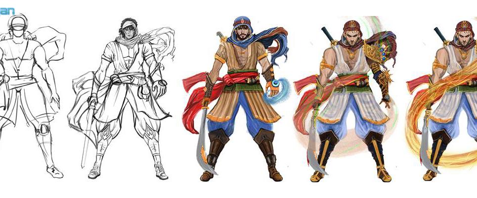 2d 3d concept art character modeling show