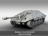 Maresal M06 - Romanian tank destroyer 3D Model
