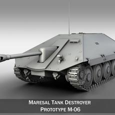 Maresal M06 - Romanian tank destroyer 3D Model