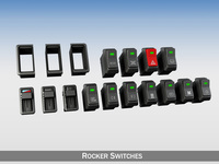 Rocker switches for vehilce 3D Model