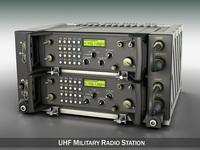 UHF Military radio system 3D Model