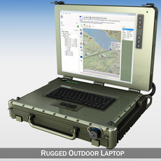 Rugged Military outdoor laptop 3D Model
