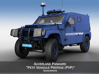 Auverland Panhard PVP - Gendarmerie 3D Model