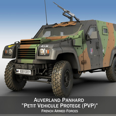 Auverland Panhard PVP - French Army 3D Model