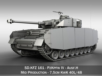 SD.KFZ 161 PzKpfw IV - Panzer 4 - Ausf.H 3D Model
