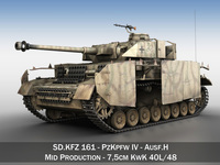 SD.KFZ 161 PzKpfw IV - Panzer 4 - Ausf.H - Late 3D Model