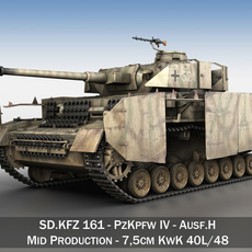 SD.KFZ 161 PzKpfw IV - Panzer 4 - Ausf.H - Late 3D Model