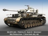 SD.KFZ 161 PzKpfw IV - Panzer 4 - Ausf.H - Winterkit 3D Model