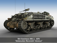 M4 Sherman ARV MK.I 3D Model