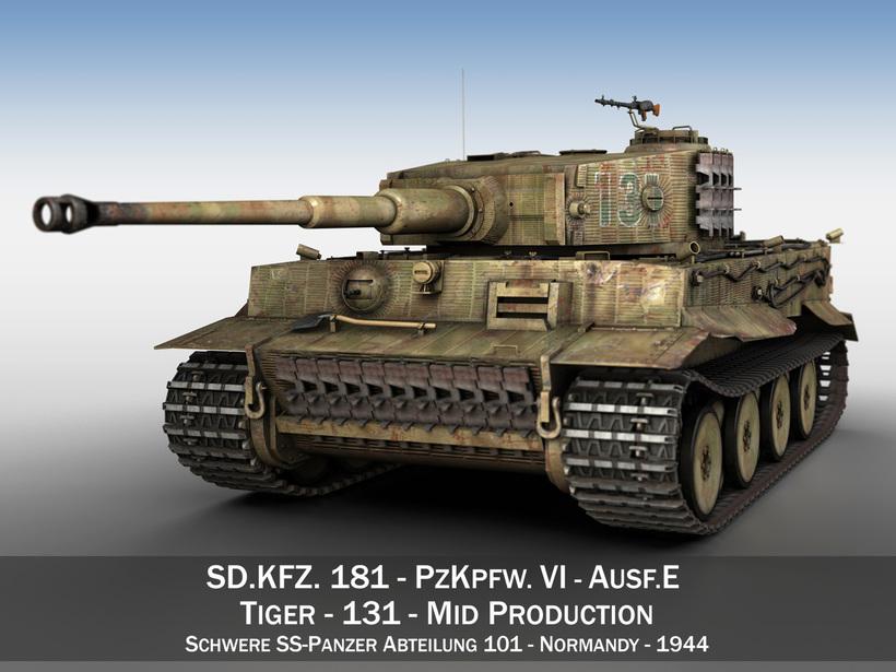 Panzer VI - Tiger - Mid Production 3D Model