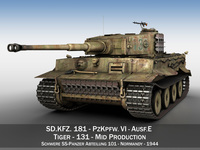 Panzer VI - Tiger - Mid Production 3D Model