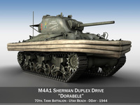 M4A1 Sherman - Duplex Drive - Dorabele 3D Model