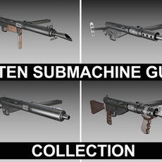 STEN Submachine gun - Collection 3D Model