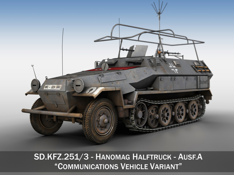 SD.KFZ 251/3 IV Ausf.A - Radio and Command Vehilce 3D Model