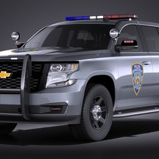 Chevrolet Tahoe PPV 2015 VRAY 3D Model