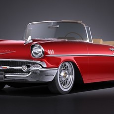 Chevrolet Bel Air Convertible 1957 VRAY 3D Model