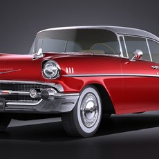 Chevrolet Bel Air Coupe 1957 VRAY 3D Model