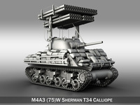 M4A3 Sherman-Calliope 3D Model