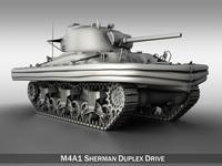 M4A1 Sherman - Duplex Drive 3D Model