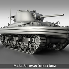 M4A1 Sherman - Duplex Drive 3D Model