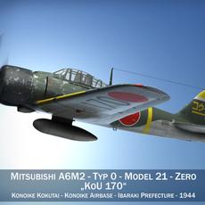 Mitsubishi A6M2 Zero - Konoike Kokutai 3D Model