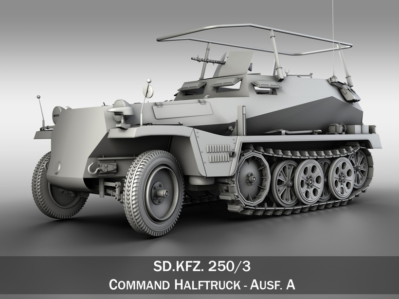 SD.KFZ 250/3 - Half-track Command Version 3D Model