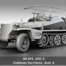 SD.KFZ 250/3 - Half-track Command Version 3D Model