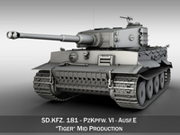 Tiger - Mid Production 3D Model