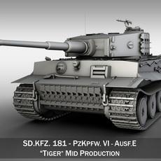 Tiger - Mid Production 3D Model