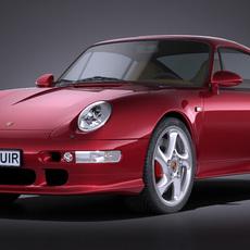 Porsche 911 993 Turbo 1995 VRAY 3D Model