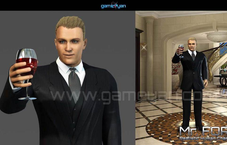 3d mrford realistic human character modeling show