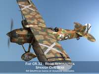 Fiat CR.32 - Italy Air Force - XVI Gruppo 3D Model
